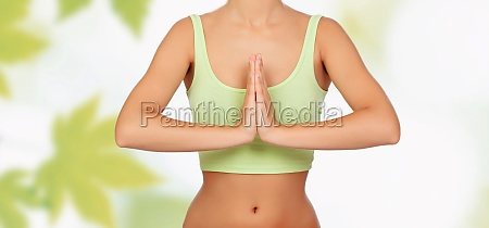 anonymous woman doing yoga