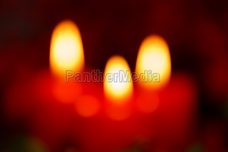 blurry red christmas candles