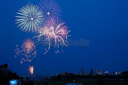 kawaguchi fireworks display of fireworks 2019