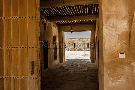 the entrance passageway to aqeer castle