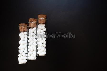 jordan almonds in glass tube wedding