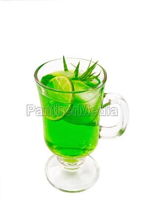 lemonade tarragon in goblet
