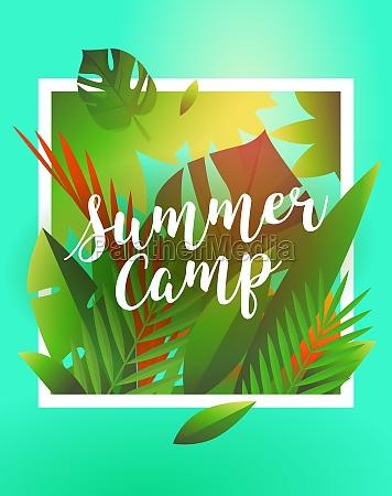 hello summer holiday and summer camp