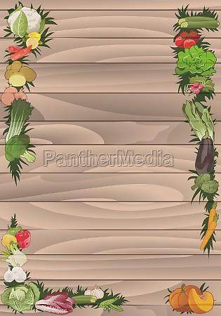 vegetables frame vertical