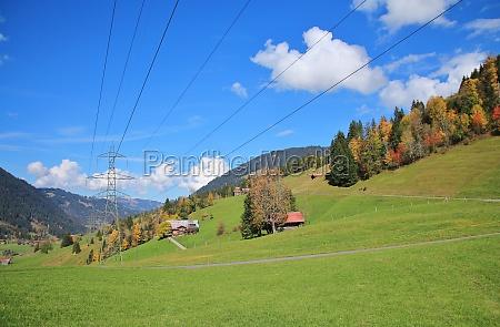autumn landscape near gstaad swiss alps