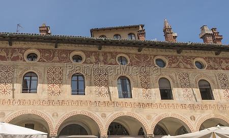 ducale square decoration detail vigevano