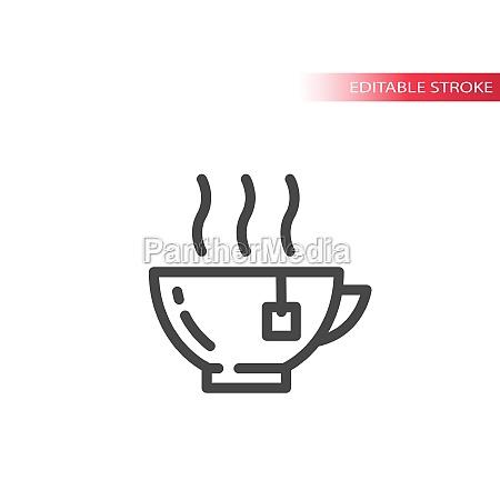 tea hot cup or mug line