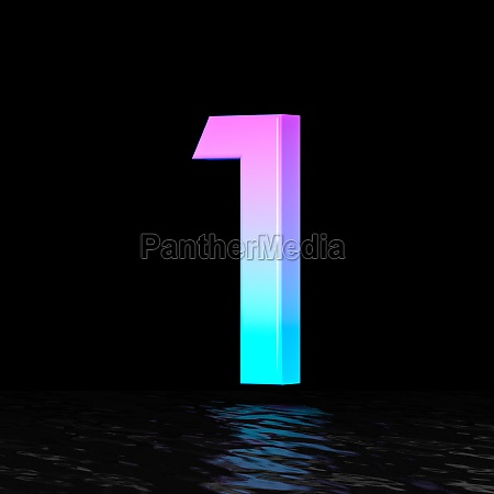 cyan magenta font number 1 one