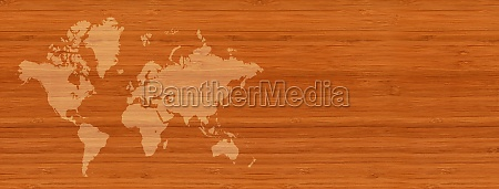 world map on brown wooden wall