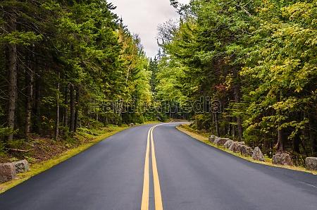road through acadia national park maine