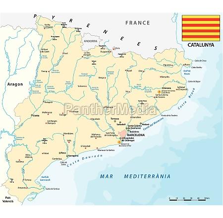 vector map of spanish region of