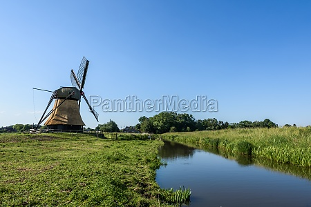 historic windmill in east frisia lower