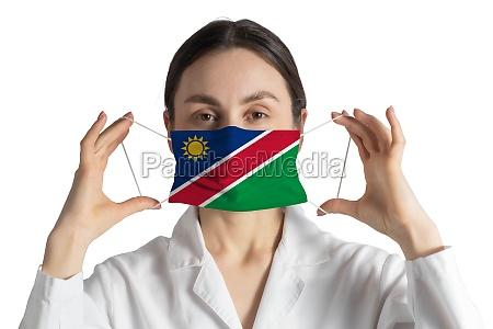 respirator with flag of namibia doctor