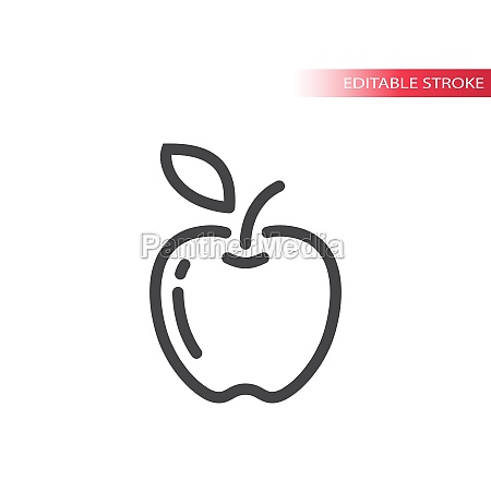 apple line vector icon