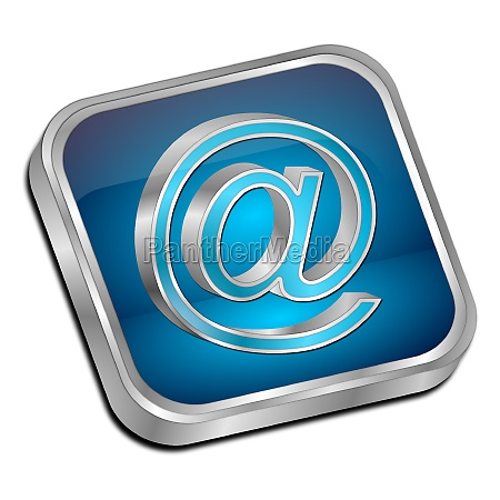 e mail button glossy blue
