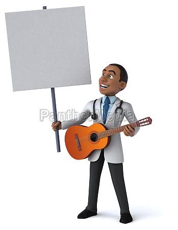 fun doctor 3d illustration
