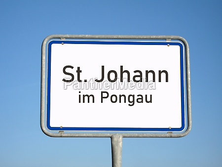 place name sign st johann im