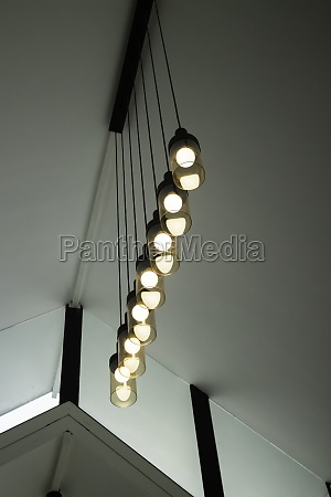 lighting ball hanging from the ceiling