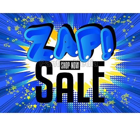 zap sale comic book style advertisement