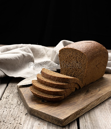 sliced baked rectangular rye flour bread