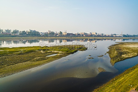 yamuna river and the evening india