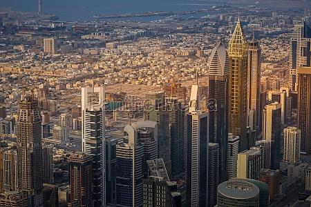 dubai skyline as seen from burj