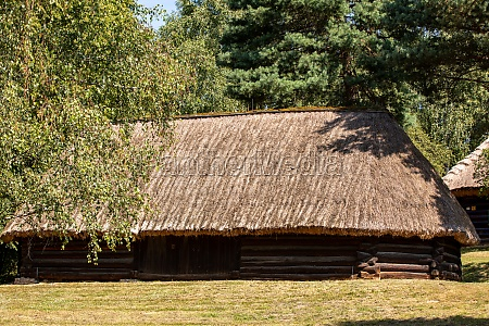 wooden rural cottage from the 19th