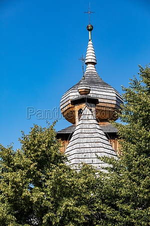 the wooden dome of the church