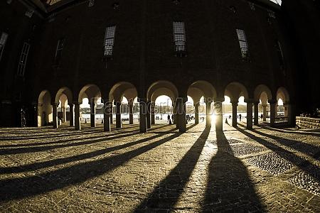of stockholm city hall courtyard sweden