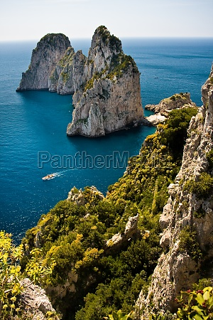 capri boat and terrace