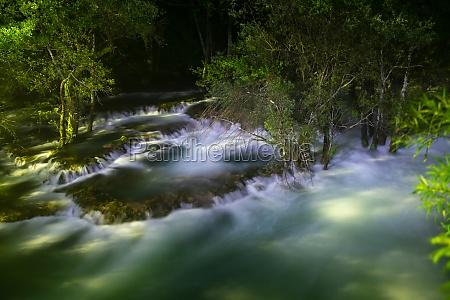 waterfalls in night