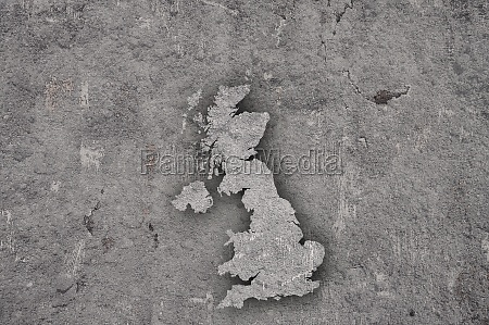 map of great britain on weathered
