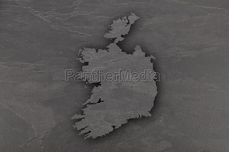 map of ireland on dark slate