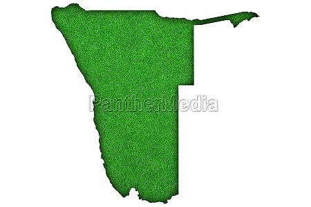 map of namibia on green felt