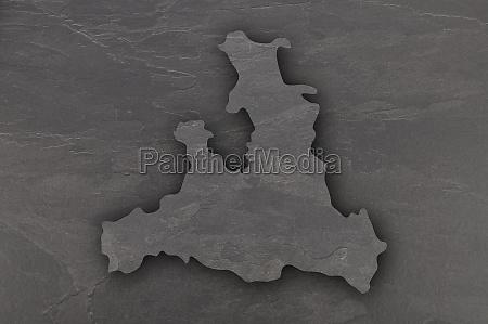 map of salzburg on dark slate