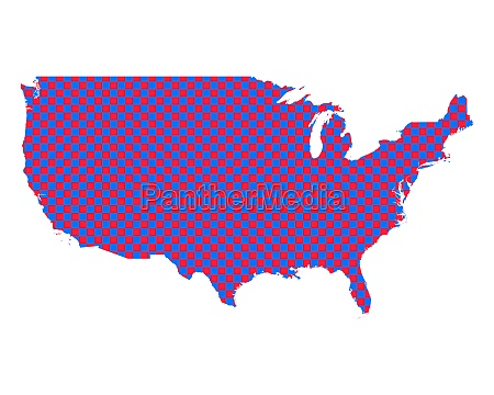 map of the usa in checkerboard