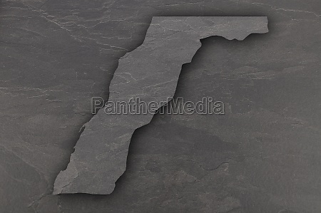 map of western sahara on dark