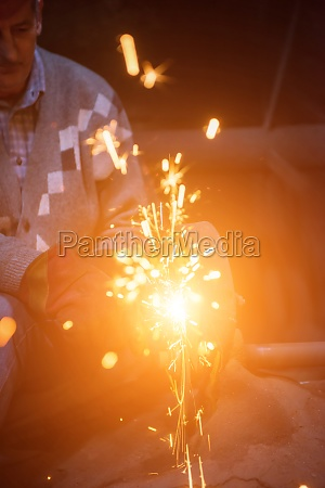 the blacksmith polishing metal products