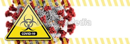 banner of coronavirus covid 19 bio