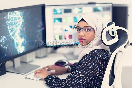 afro american modern muslim woman