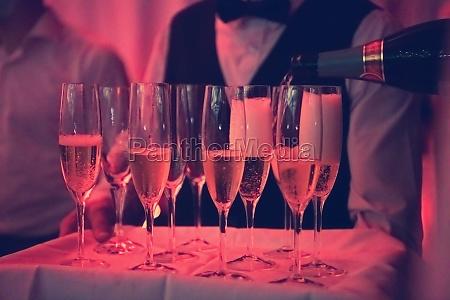 champagne in wineglasses