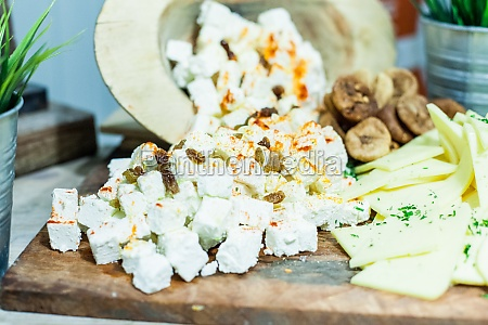 food buffet catering cheese tasty party