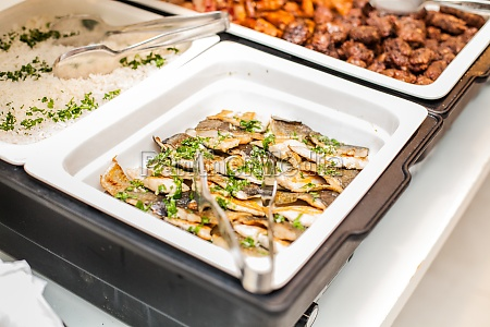 food served catering at the party