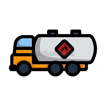 fuel tank truck icon