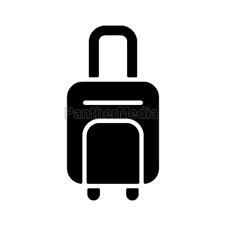 baggage luggage flat vector isolated sign