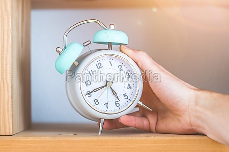time and morning concept retro styled