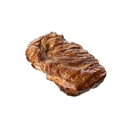 grilled piece of beef meat food