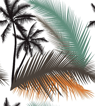 palm trees design for textiles