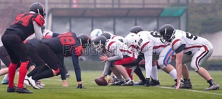 professional american football players ready to