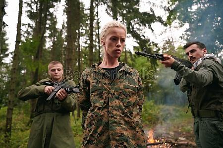 terrorists was capture alive woman soldier